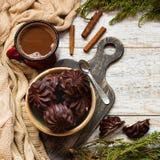 Marshmallow στη σοκολάτα Στοκ Φωτογραφίες