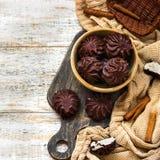 Marshmallow στη σοκολάτα Στοκ εικόνες με δικαίωμα ελεύθερης χρήσης