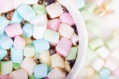 Marshmallow στο φλυτζάνι Στοκ εικόνα με δικαίωμα ελεύθερης χρήσης