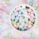 Marshmallow στο φλυτζάνι Στοκ εικόνες με δικαίωμα ελεύθερης χρήσης