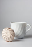 marshmallow φλυτζανιών τσάι Στοκ εικόνα με δικαίωμα ελεύθερης χρήσης