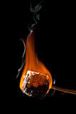 Ψημένο πολύ Marshmallow που καίει και που παίρνει όλο το Μαύρο Στοκ Φωτογραφίες