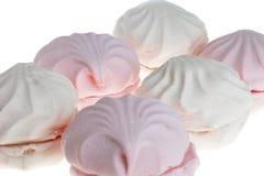 marshmallow biel różowy waniliowy Zdjęcia Stock