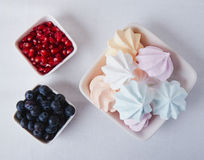 Marshmallow blueberry and pomegranate Stock Image