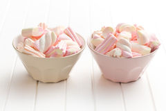 Marshmallow in bowl Stock Photo