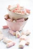 Marshmallow in bowl Royalty Free Stock Photos