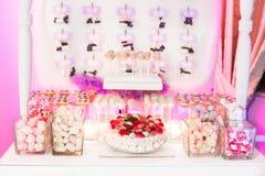 Marshmallow buffet Stock Photo
