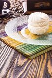 Marshmallow cake and coffee Royalty Free Stock Images