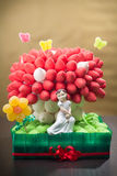 Marshmallow Cake. Cake for a First Communion made with marshmallows stock photos