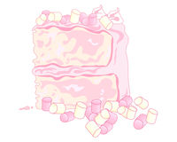Marshmallow cake Stock Photography