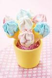 Marshmallow cake pops Stock Photos
