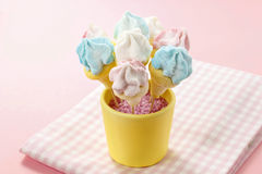 Marshmallow cake pops Royalty Free Stock Image