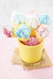 Marshmallow cake pops Stock Images