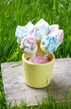 Marshmallow cake pops Stock Photography