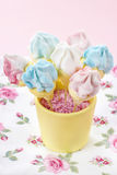 Marshmallow cake pops Royalty Free Stock Images