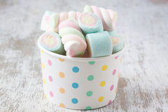 Marshmallow candies royalty free stock photography