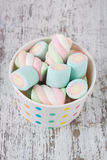 Marshmallow candies stock images