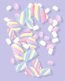 Marshmallow candy Royalty Free Stock Images