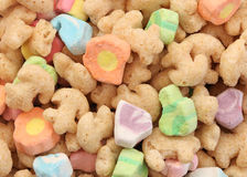 Marshmallow Cereal Background. Start your morning with a giant bowl of marshmallow cereal royalty free stock images