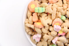 Marshmallow Cereal. Start your morning with a giant bowl of marshmallow cereal stock image