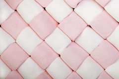 Marshmallow checkerboard. Marshrmallow background in checkerboard formation Stock Images