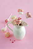 Marshmallow and Chocolate pops Stock Photo
