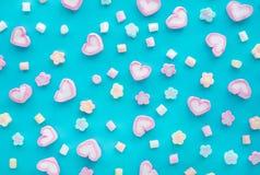 Marshmallow colorido Partido e celebração Textura decorativa do fundo Configuração lisa imagens de stock royalty free