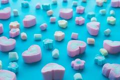 Marshmallow colorido Partido e celebração Textura decorativa do fundo Configuração lisa imagem de stock