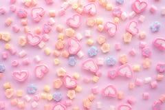 Marshmallow colorido Partido e celebração Textura decorativa do fundo Configuração lisa fotos de stock