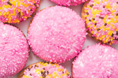 Marshmallow Cookies With Sugar Sprinkles Stock Images