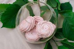 Marshmallow cor-de-rosa macio foto de stock