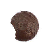 Marshmallow covered in chocolate isolated Stock Photos