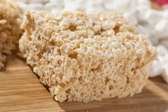 Marshmallow Crispy Rice Treat Stock Photos