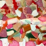 Marshmallow cukierki z kolorowym liqueriz i Zdjęcia Royalty Free