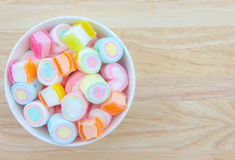Marshmallow in cup Royalty Free Stock Photography