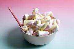 Marshmallow do arco-íris Fotografia de Stock Royalty Free