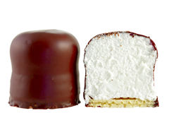 Marshmallow do chocolate Fotografia de Stock Royalty Free
