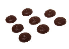Marshmallow do chocolate isolado no branco Imagens de Stock Royalty Free