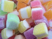Marshmallow with gelatine dessert Royalty Free Stock Photography