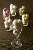 Marshmallow. In the glass cup Royalty Free Stock Image