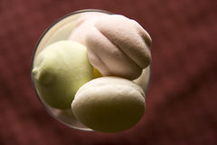 Marshmallow. In the glass cup Royalty Free Stock Photography