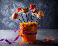 Marshmallow  for Halloween Stock Images