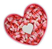 Marshmallow. In hear shape with candy for Valentine Day stock photos