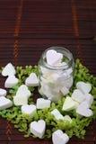 Marshmallow Heart-shaped imagens de stock