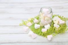 Marshmallow Heart-shaped fotografia de stock royalty free