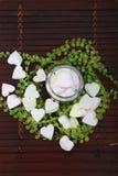 Marshmallow Heart-shaped imagem de stock