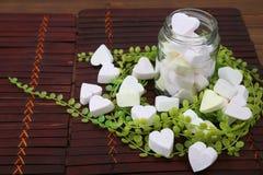 Marshmallow Heart-shaped fotos de stock