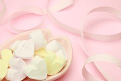 Marshmallow Heart-shaped fotos de stock