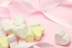 Marshmallow Heart-shaped fotografia de stock royalty free