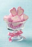 Marshmallow hearts royalty free stock photography